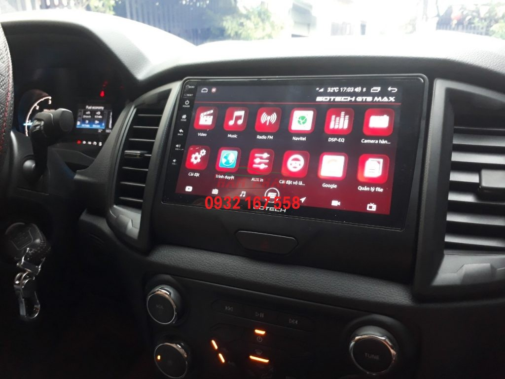 Lắp đặt màn hình android Gotech GT8 Max - Ford Ranger